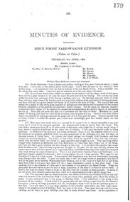 Document, Minutes of Evidence, Beech Forest Narrow-Gauge Extension, July 1896