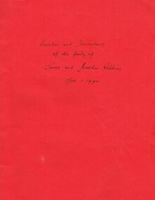 Family History, James and Martha Robbins, c.1990