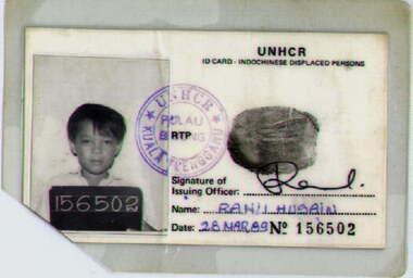 Refugee ID Card of a refugee in Bidong