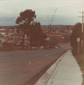 Short Street, Bendigo in 1960s.  Back of Sacred Heart Cathedral, north of YWCA building, where carpets are now sold