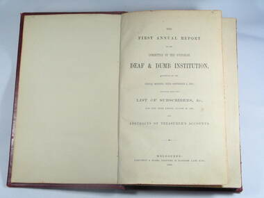 Book, Reports V.D.& D.I. 1863 to 1872