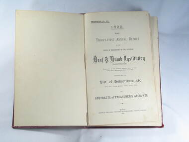 Book, Reports V.D.& D.I. 1893 to 1899