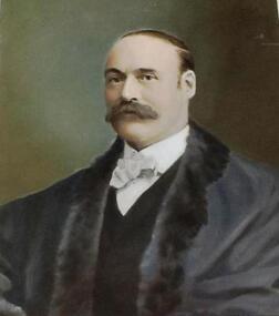 Portrait: Hon. W.D.Beazley, MLA 1889-1912, Framed Hand painted portrait Hon. W.D.Beazley, MLA 1889-1912 Founder of Beazley Scholarships