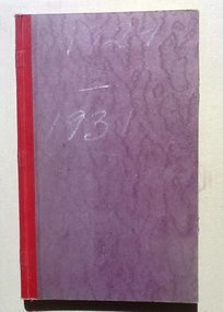Account Book - CTS, M. Richmond - Official Account 1929-1931, 1929-1931