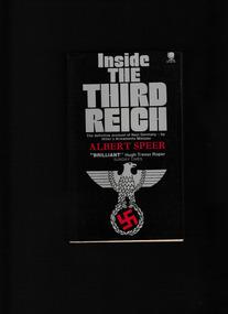 Book, Albert Speer, Inside the Third Reich, 1981
