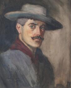 watercolour painting, Self Portrait (Lionel Lindsay)
