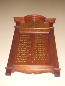 Photograph, Yvon Davis, Ballarat railway Station World War One Honour Board