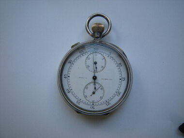 photo of silver stop watch