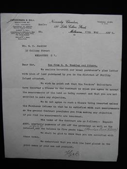 letter, 2 pages headed 'You from G.R. Buckley and Others'