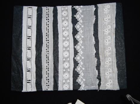 panel of five lace pieces