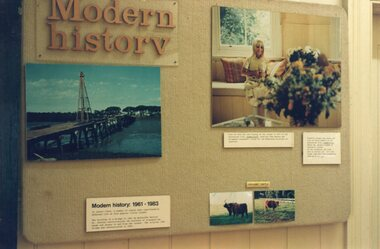Photograph of 'Modern History' display in the Visitor's Centre