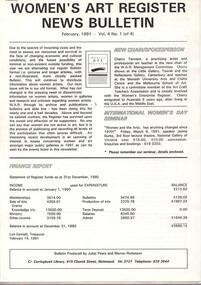 Women's Art Register Bulletin, Women's Art Register News Bulletin