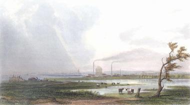 613 - Copy of sketch, View of Sandridge - Booth, Australia. 1880