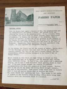 3814 L - Monthly parish newsletter from November 1973, Holy Trinity Church, Port Melbourne