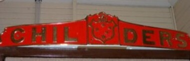 Nameplate H.M.A.S  Childers