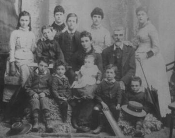 Family photograph, Vincent Gercovich family, c. 1889