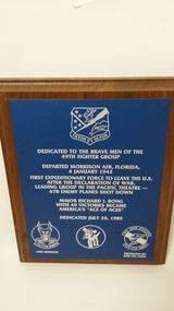 Plaque 49th Fighter Group