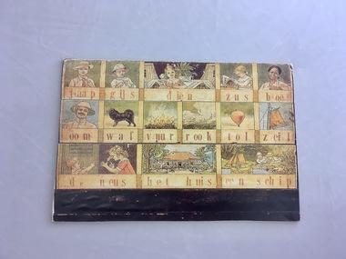 (a) Leesplankje (b)Leesplankje letter collection (c) Book: 'Het Leesplankje', (c)Het Leesplankje