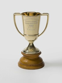 Tasmanian Racing Club trophy for Benson and Hedges Hobart Cup