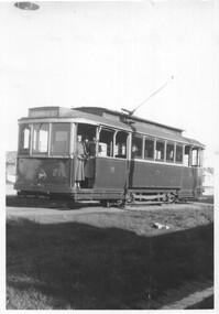 Black & White - Ballarat Tram 21 at Sebastopol terminus