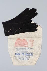 Gloves, Gloves with original paper bag, c.1948