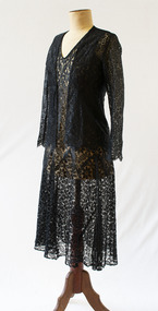 Dress and jacket, begun 1920s, finished 1970s