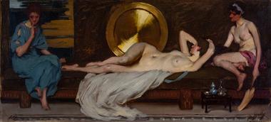Painting, Bernard Hall, Sketch for 'Sleep', c. 1906