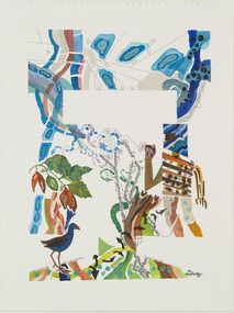 Painting, Cowie, Edward, Kelly with Swamp Hen - Kelly Choruses No.VII, 1982