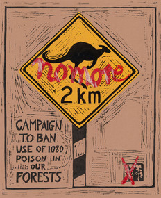 Print, WOLSELEY, John  b.1938 Somerset, England, No More: Poster for Environment Protest, 1976