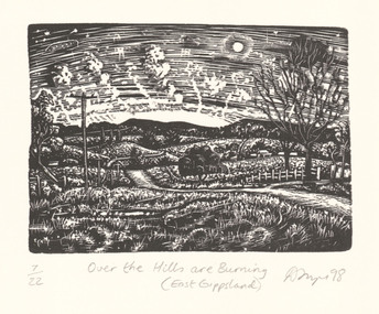Print, FRAZER, David  b. 1966 Foster, Victoria, Over the hills are burning (East Gippsland), 1998