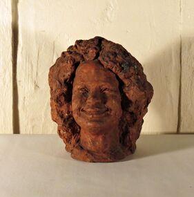 Terracotta Sculpture, Untitled (Head of a Woman)