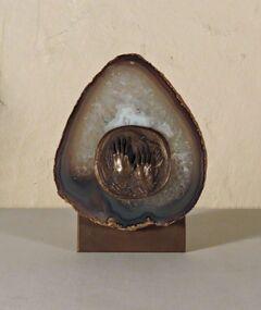 Onyx Plaque/Bronze Medallion, Untitled (Hands)
