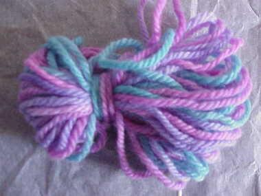 Sample, dyed wool