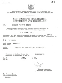 Certificate, [Certificate of Registration of Copyright]
