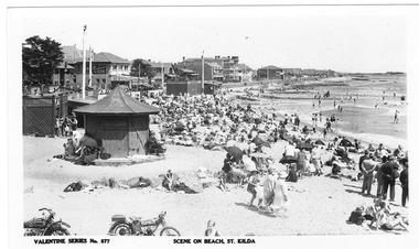 Photograph, St Kilda Beach, c. 1929