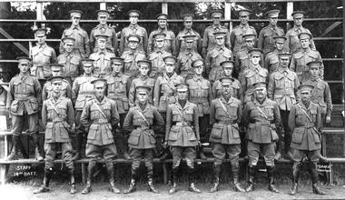 "Photograph, Staff, 14th Battalion, ""Darge"" copyright"