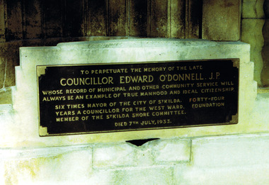 Photograph, Plaque commemorating Edward O'Donnell