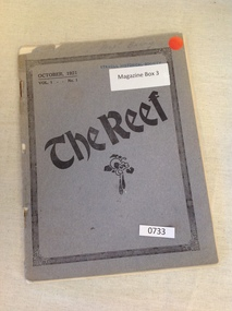 Book, The Reef - State School Magazines – October 1921 Vol 1 No 1, 1921