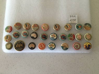 Red Cross and Patriotic Badges from WW1, 1915-1920's
