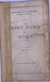 Publication, Honey Flora Of Victoria Fourth Edition (Dept of Agriculture Victoria), 1930-1939