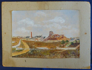 """Painting - Painting by Alfred Flood, Alfred Flood, """"Chiltern Valley Goldmine"""", Late 19th Century"""