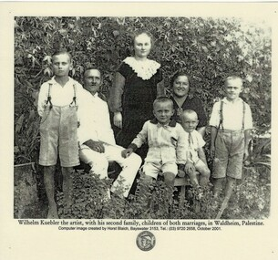 Photograph, Wilhelm Kuebler and family