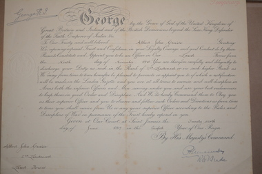 Personal papers, Lieut. A.J Cruise MBE