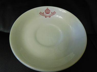 "Victorian Railways Saucer Plate, May 1954     ""5-54""  = ""month-year"""