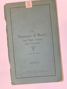 Publication, The Diseases of Bees: their Signs, Causes and Treatment (Annie D. Betts, B.Sc) Second Edition, 1951