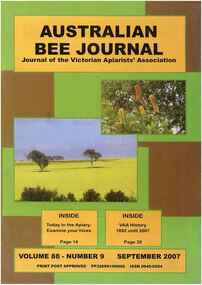 Publication, Australian Bee Journal (Victorian Apiarists' Association), Chewton, 2007