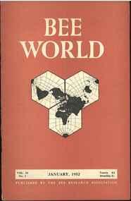 Publication, Bee World (Bee Research Association), London, 1952-1976