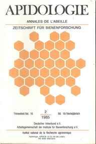 Publication, Apidologie, (Deutscher Imkerbund, Arbeitsgemeinschaft der Institute für Bienenforschung), Paris, 1985-1991