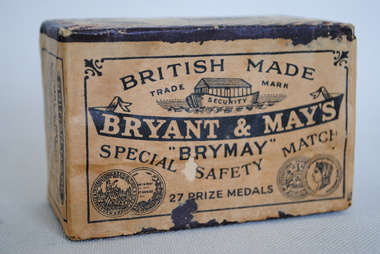 Safety Matches, Bryant & May, 1920-1960