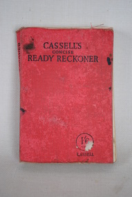 Book, Cassell's Concise Ready Reckoner, Estimated date: 1926-37